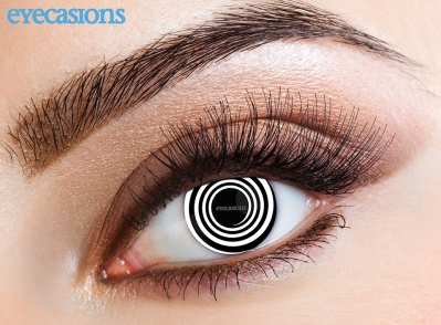Black Spiral Fashion Contact Lenses