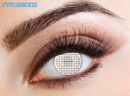 White Mesh Fashion Contact Lenses
