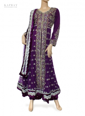 Anarkali dress in purple