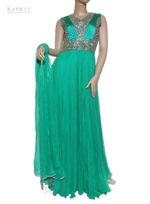 Bridal Maxi Dress in Turquoise