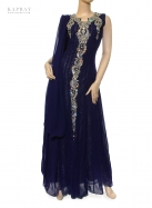 Bridal Maxi Dress in Navy Blue