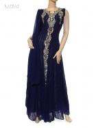 Bridal Maxi Dress in Navy Blue