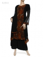 Casual Salwar Kameez in Black with Print