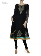 Casual Salwar Kameez in Black