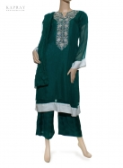 Casual Salwar Kameez in Emerald Green