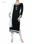 Casual Salwar Kameez in Black and White