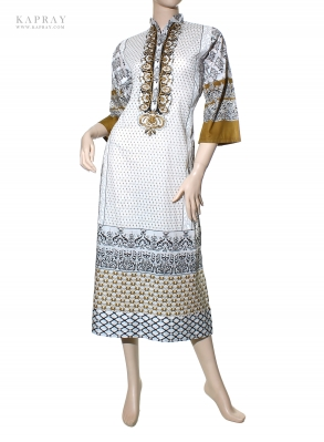 Casual Tunic Kurta in Black and White