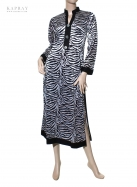 Casual Tunic Kurta in Black and White with print