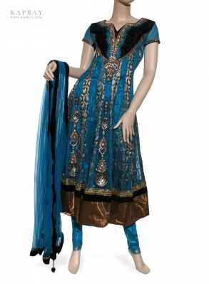 Party Wear Anarkali Dress in Blue
