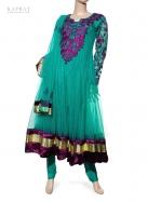 Party Wear Anarkali Dress in Turquoise