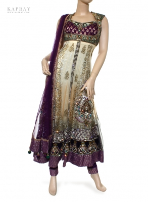 Party Wear Anarkali Dress in Multi Colours