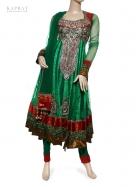 Party Wear Anarkali Dress in Green