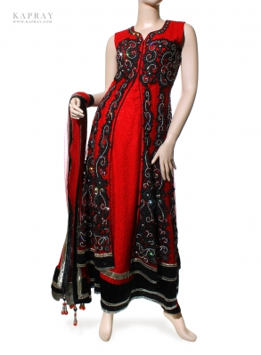 Party Gown Dress in Red