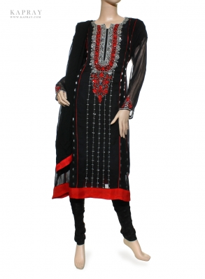 Party Wear Salwar Kameez in Black