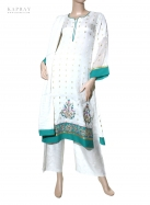 Salwar kameez in white