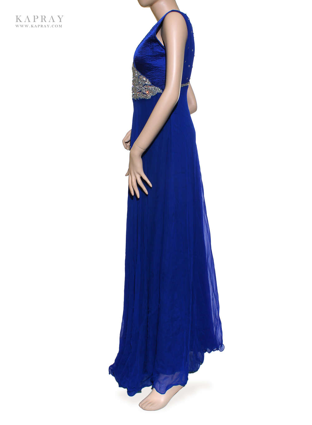 Bridal maxi dress in navy blue kapray for Maxi dresses for wedding party